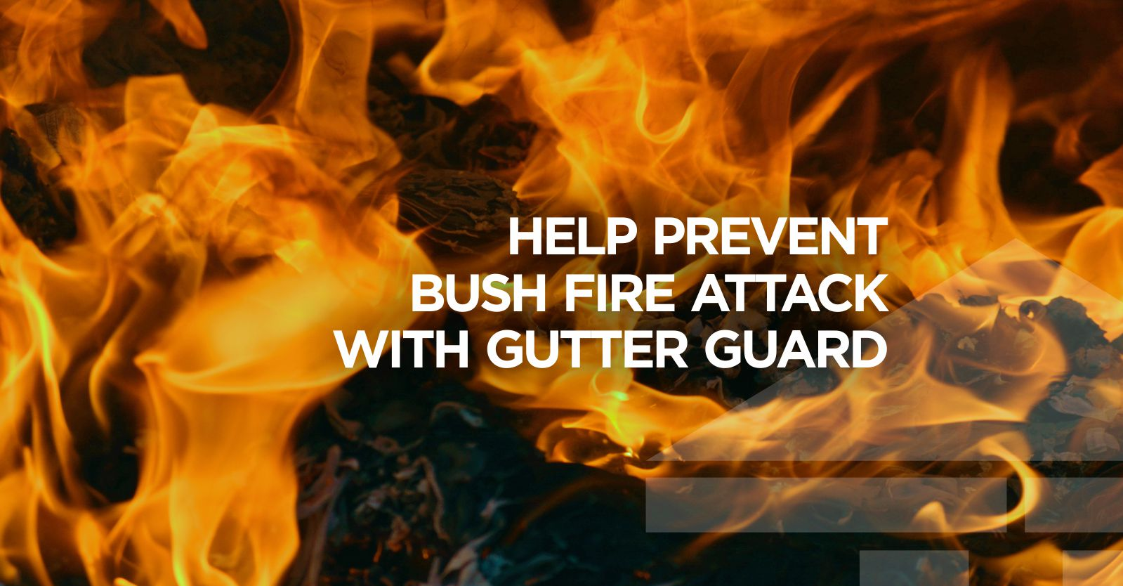 Gutter Guard Installed with Central Coast Gutter Cleaning helps prevent bushfire